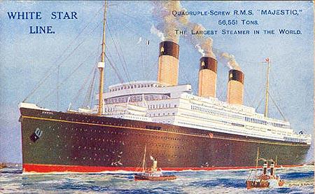 RMS Homeric, le 3ème jumeau de Titanic Majest10