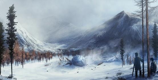 A la recherche de l'ovni au Parc National de Muddus en Suède Crash-10