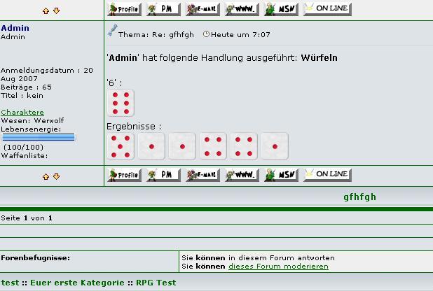 Anleitung RPG und Würfel Wurf410