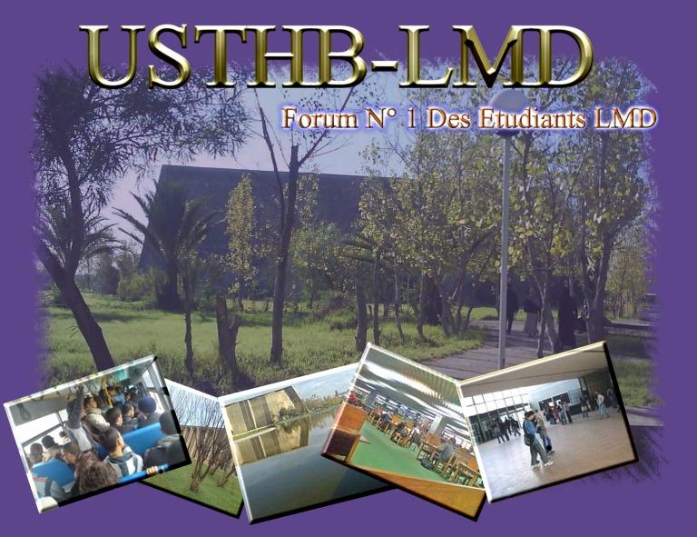 .::Forum officiel USTHB LMD::.