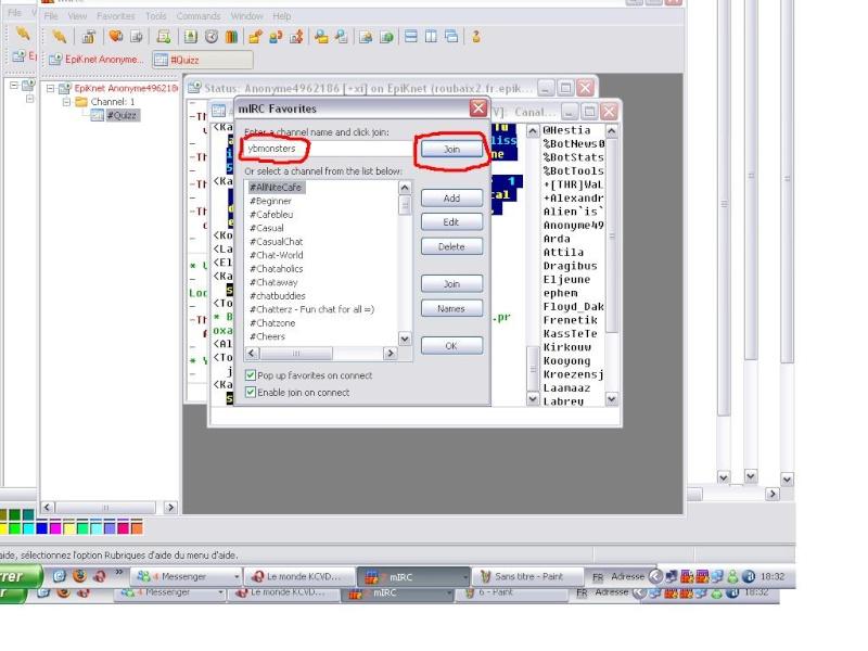 Comment Se Connecter Sur La chain De YBMonsters 710