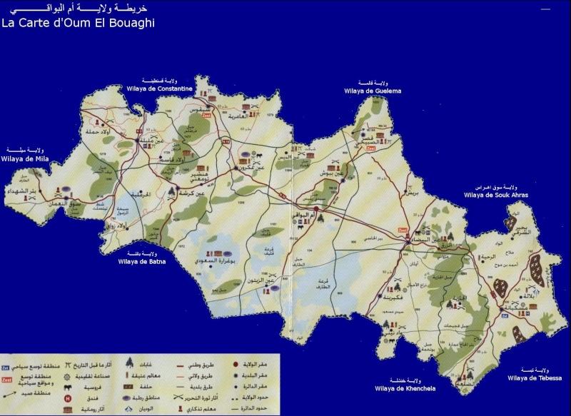une carte géographique de la wilya d'oum el bouaghi 4010