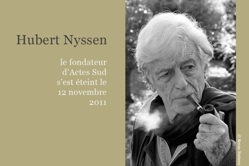 Disparition de Hubert Nyssen A2117