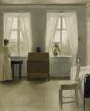 hammershoi - Vilhelm Hammershoi [Peintre] Bedroo10