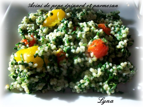 Acini de pepe aux épinards et parmesan Acini_10