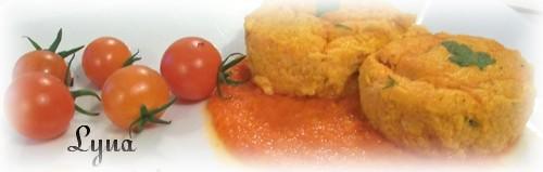 Flan de carottes avec coulis de poivron rouge Flan_c11