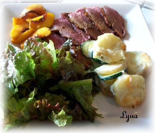 Pommes de terre et courgettes gratinés Magret10