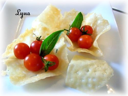 Tuiles de parmesan ou petits paniers (photos) Panier14