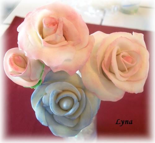 Gumpaste pour décoration de gâteau Rose_g10
