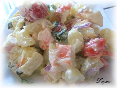 Salade de pommes de terre et goberge (surimi) Salade14