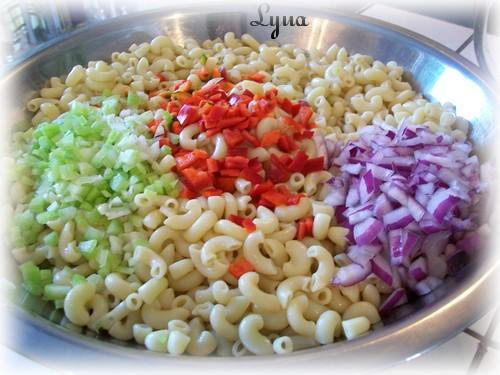 Salade de macaroni (grosse quantité pour buffet) Salade17