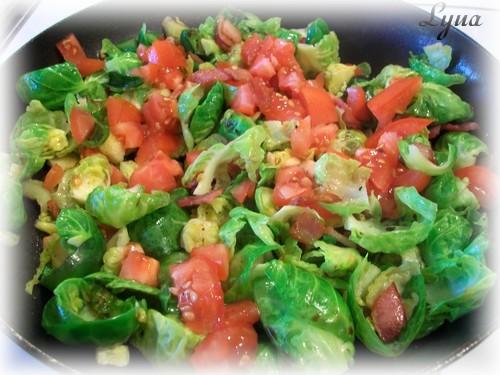 Salade tiède de choux de Bruxelles Salade23