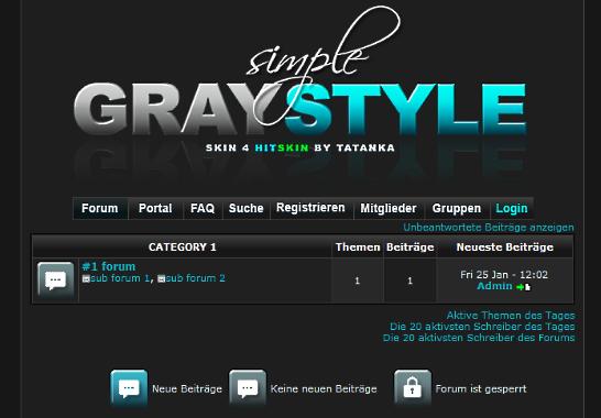 simple Gray Style Grau_s11