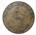 10 Cts. Pta. Gobierno Provisional (Barcelona, 1870) falsa de época 10cf1810
