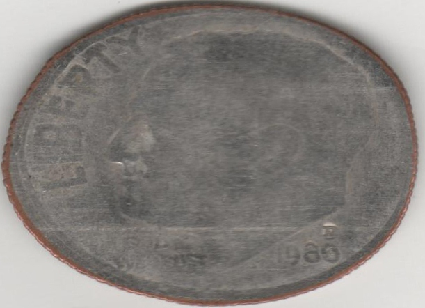 Elongated Coin US 00147