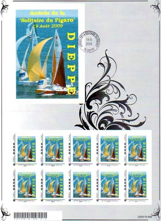 76 - Dieppe - Association Philatélique -Solitaire du Figaro  7611