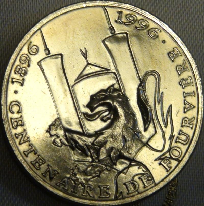 69 lyon 25 euros centenaire de fourviere 1896 1996 eurocite Dsc02011