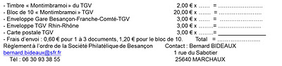 25 - Besançon - Société Philatélique   Tarif10