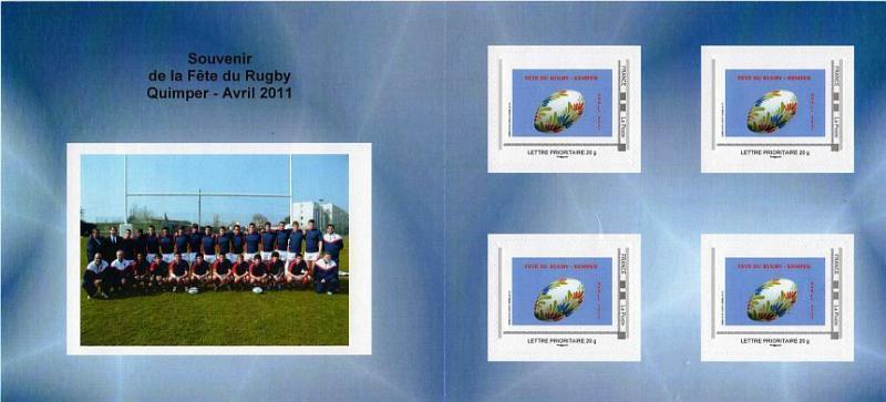 29 - Quimper - Fête du rugby  Timbre11