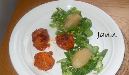 Almôndegas no forno com puré de maça Foto_160