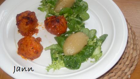 Almôndegas no forno com puré de maça Foto_162