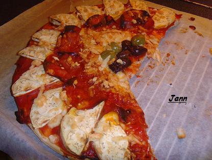 Pizza de beringela e chourição Snv32026