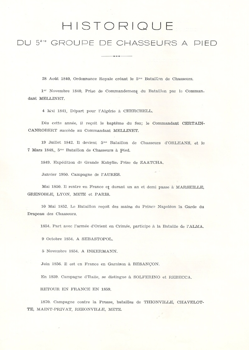 Historique du 5e BCP Histor18