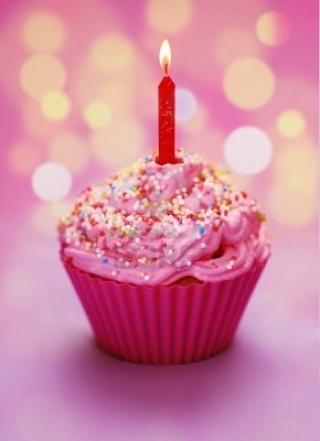 Joyeux anniversaire Bonbon Rose 79775511