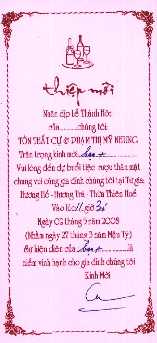 Thiệp Mời Thiepm11