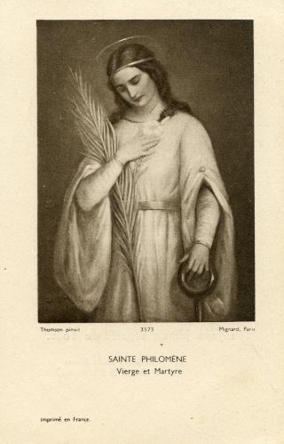 Urna de santa Filomena / Haz de tres flechas entre palmas - s. XIX Img00810