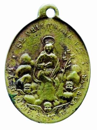 Urna de santa Filomena / Haz de tres flechas entre palmas - s. XIX Ste_ph11