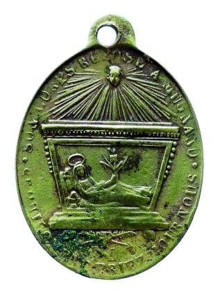 Urna de santa Filomena / Haz de tres flechas entre palmas - s. XIX Ste_ph13
