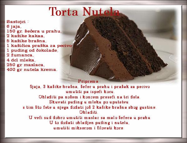 Nutela torta Nutela10