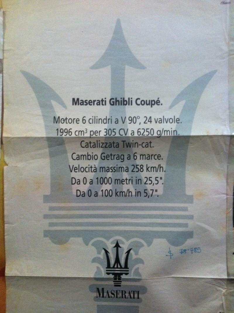 Vecchie pubblicità Maserati Ghibli11