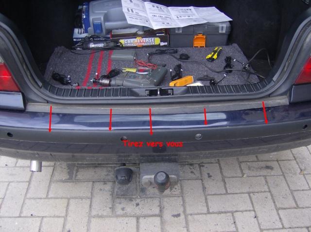 Montage d'un radar de stationnement 711