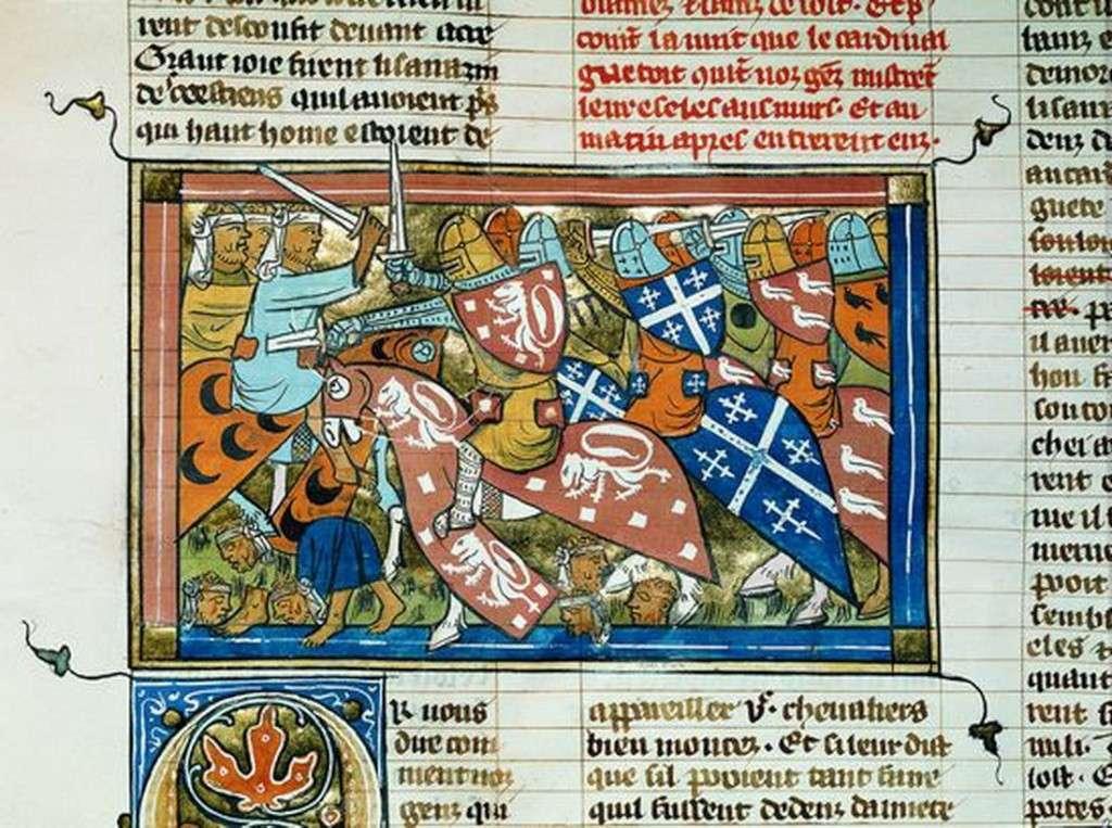 Enluminures de la première croisade 13108710