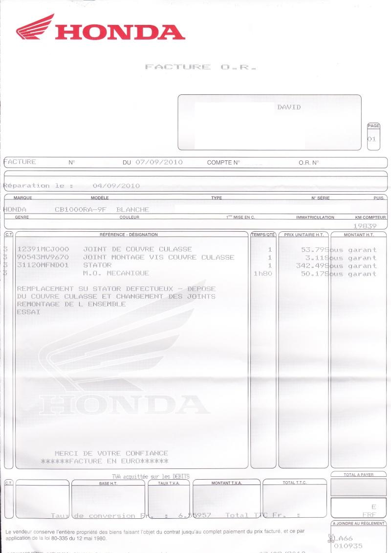 PROBLEME ALTERNATEUR STATOR (bobine(s) cramée(s)) : Concentration d'informations Factur10