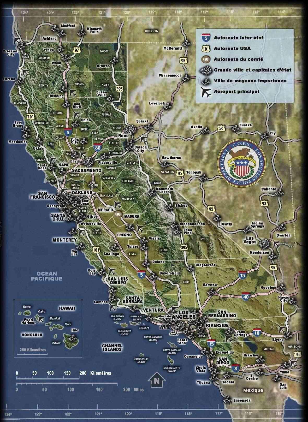 Cartes (Los Angeles, Californie) Mapcal10