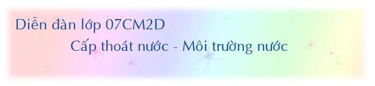 Cấp Thoát Nước - 07CM2D
