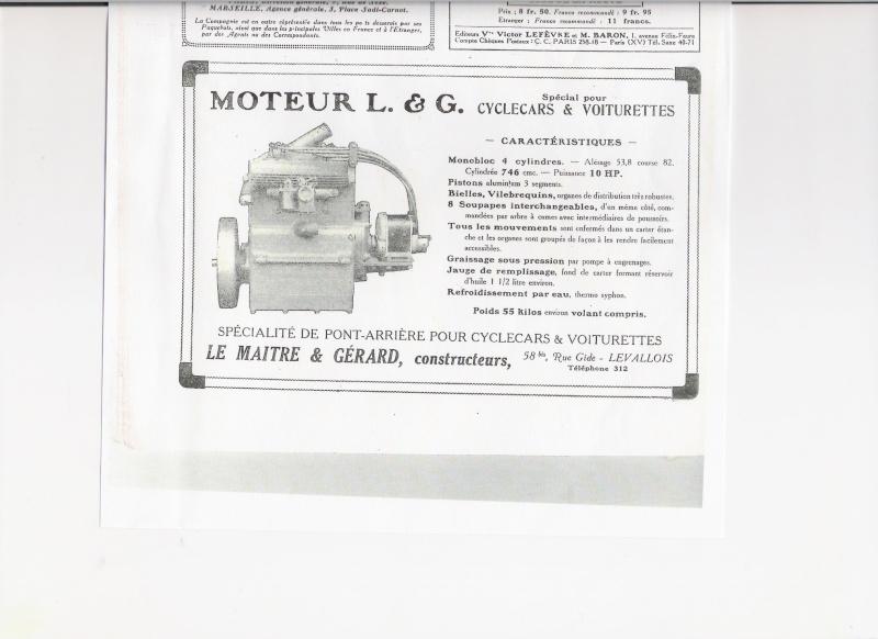 Moteur de cyclecar et voiturette Moteur15