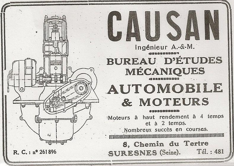 Némorin CAUSAN Ingénieur (1881-1937) Pub_ca10