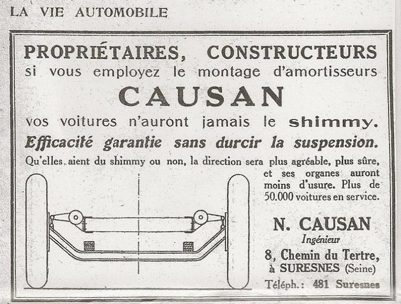 Némorin CAUSAN Ingénieur (1881-1937) Pub_ca11