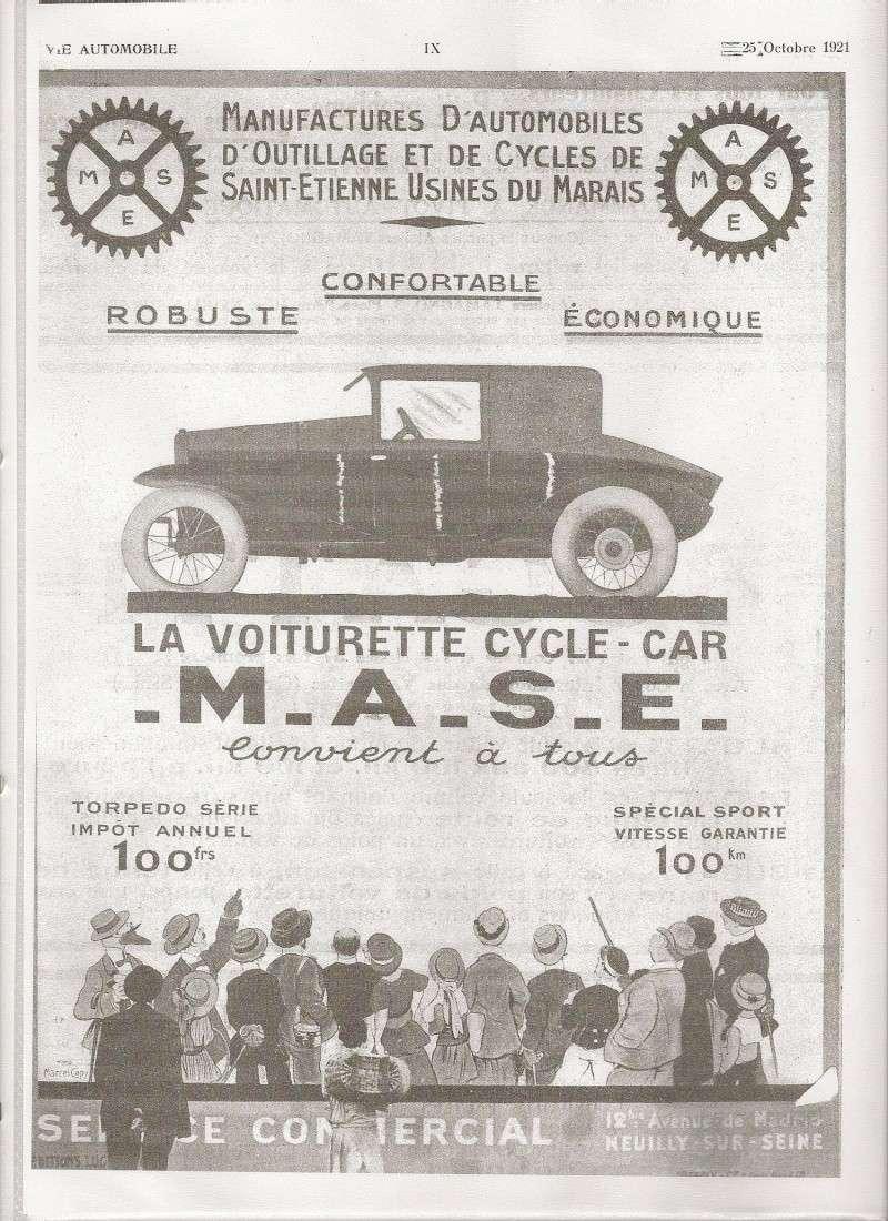 M.A.S.E. / MASE cyclecar et voiturettes - Page 2 Pub_ma10