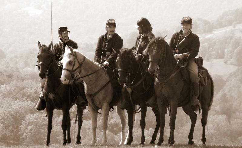Sepia tones: Civil War Enactment. P1010410