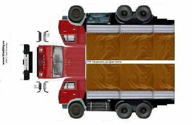 Пизда бумажные модели грузовиков краз вырезать и склеить снимают