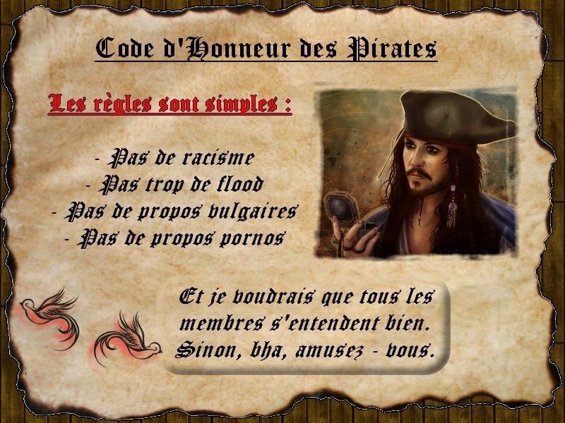 Règles du Code d'Honneur des Pirates 0211