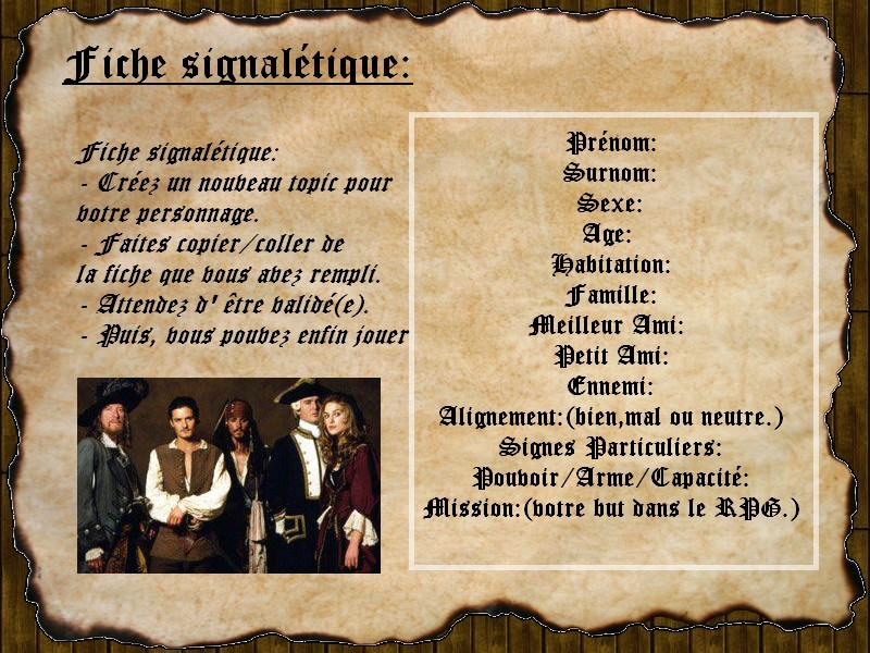Règles du Code d'Honneur des Pirates 0411