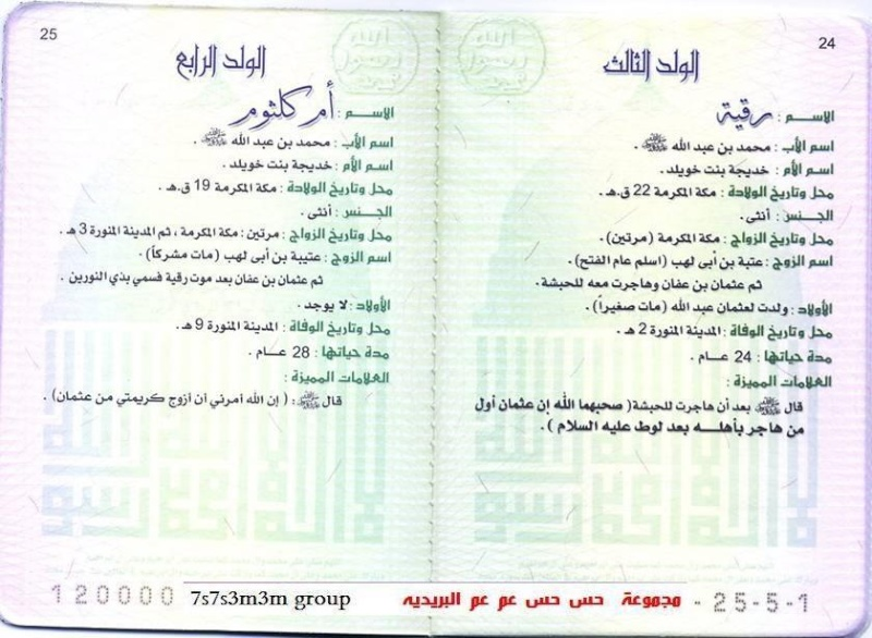 البطاقة الشخصية للرسول(ص)13 1310