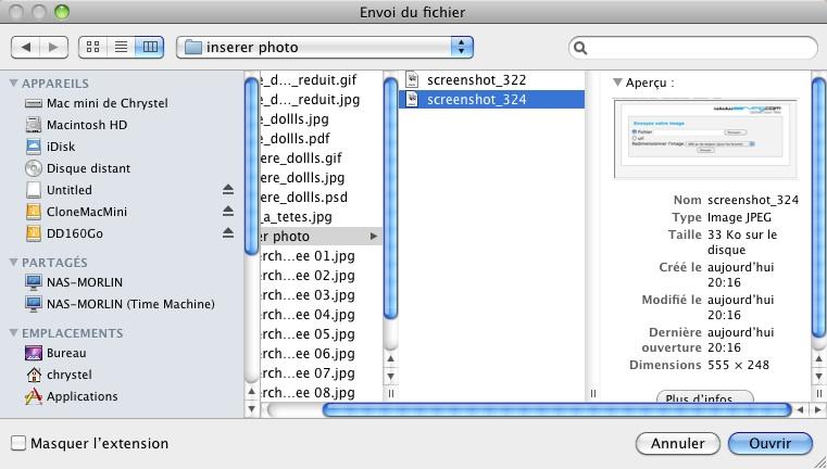 Comment mettre des photos sur le forum.... Screen21