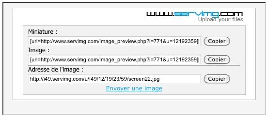 Comment mettre des photos sur le forum.... Screen23